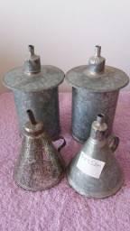 Título do anúncio: lamparina a querosene retro 10cmx7,5cm