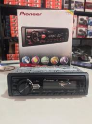 Auto radio pioneer mvh 98ub com entrada aux/usb #nf vendas 2021