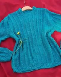 Blusão tricot verde