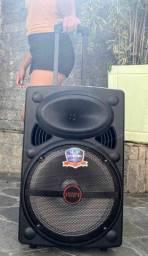 Caixa de Som Super Bass 2000w de Potência Bluetooth Microfone e Controle