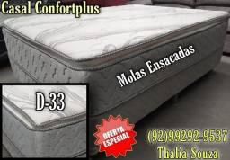Título do anúncio: Cama casal D33 Molas Ensacadas+ Atacado e varejo//frete grátis Manaus;;
