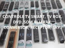 Controle TV, TV BOX, Receptor, Conversor, Som, Blu Ray, Home, Sky (Entrega Grátis)