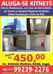Título do anúncio: Aluga-se Kitnets Residenciais, a partir de R$450,00
