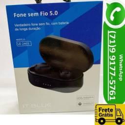 Fone Bluetooth 5.0 - Premium - It Blue Sem Fio (NOVO)