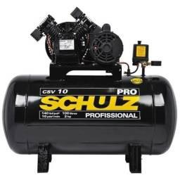 Título do anúncio: Compressor 10 Pés 100 Litros 140 Libras 2 HP schulz