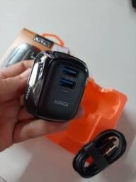 Carregador com cabo USB para micro Usb