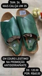 Título do anúncio: Sandália toda em couro legítimo