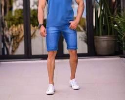 Bermuda short jeans masculina no atacado