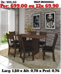 Título do anúncio: Conjunto de Mesa de 6 Cadeira- Mesa de Jantar - Liquida em Ponta Grossa descontasso
