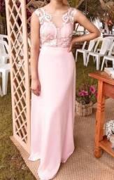 Vestido Rosé Longo - Festa