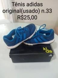 Tenis adidas azul (original) tam. 33 R$ 25,00