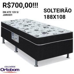Título do anúncio: REI DAS PROMOÇÕES!!!!CAMA CONJULGADA SOLTEIRÃO ORTOBOM PROMOÇÃO!!!!