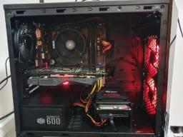 Título do anúncio: PC Gamer Ryzen 5 1600AF RX570 4gb 16gb RAM