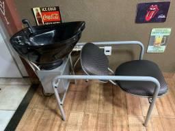 Lavatório para cabeleireiro/barbeiro + aquecedor inclusivo