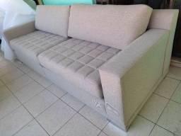 Título do anúncio: Sofá de linha alta em linho o sofá é novo