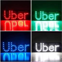 Placa de identificação Uber