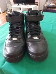 Nike Air Force One mid 7 preto.  N° 41