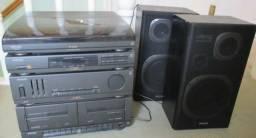 Conjunto de Som Philips FP9400 3x1 - Super Conservado - Ótima Oportunidade!!!