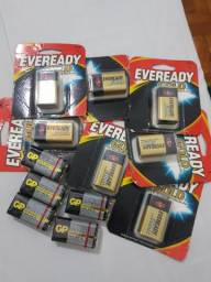 Baterias EVEREADY GOLD e GP SUPERCELL 9V