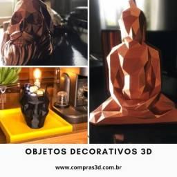 Vasos e luminarias decorativas 3D
