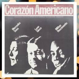 Vinil Corazón Americano - Mercedes Sosa, Leon Gieco e Milton Nascimento