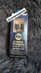 Cabo Turbo magnético USB/micro USB (Novo)