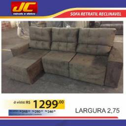 Sofa retratil e reclinavel . Largura 2,75