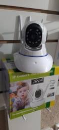 Camera Robô Ip Onvif 360° Infravermelho + Sensor de Movimento