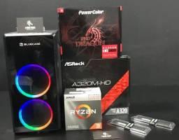 Pc gamer Ryzen 3 2200G + RX 550 4GB 12 x 299,99