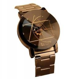 Relógio de Luxo Aço Inoxidável - Quartzo Analógico - Unissex