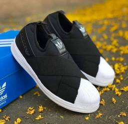 Tênis Adidas SLIP-ON Black white (PROMOÇÃO)