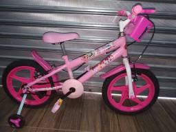 Bicicleta Princesas Disney aro 16 com cestinha