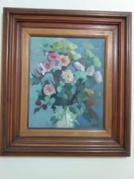 Colecionador: Quadro Flores de Talita Silva 1987 / $139;00