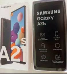 SAMSUNG GALAXY A21S 64GB NOVO LACRADO NA GARANTIA COMPLETO