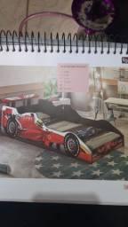 Cama carros fórmula1 vermelha