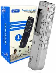 Gravador De Voz Interno Externo Digital Knup 8gb Mp3 Kp-8004