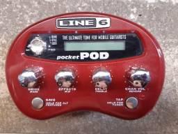 Título do anúncio: Pedaleira Guitarra/Baixo Line 6 Pocket Pod