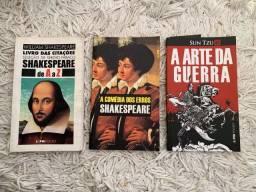 Livros Shakespeare e Sun Tzu