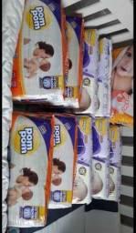 Título do anúncio: Vendo Fraldas Pom Pom e Babysec Premium M