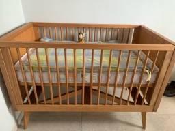 Berço Tulipas Baby + Colchão