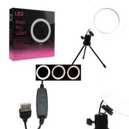 Título do anúncio: Ring Fill Light de Mesa 16cm Luz de Led para Foto e Vídeo<br><br>