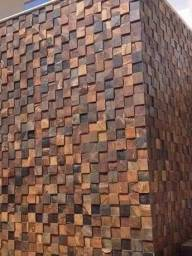Título do anúncio: Pedra Ferro Basalto Ferruginoso Mosaico Xadrez 3D Parede Promoção DoMeuGosto