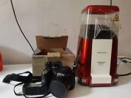 Camera Fujifilm e pipoqueira philco