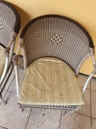 Conjunto de cadeira para área externa
