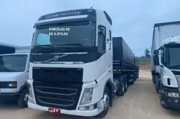 Volvo FH 540 6x4 2016 com carreta rodotrem graneleira Librelato e contrato de serviço