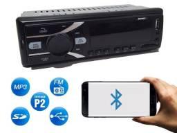 Auto Rádio Bluetooth Mp3 Usb Sd Aux Automotivo Viva Voz