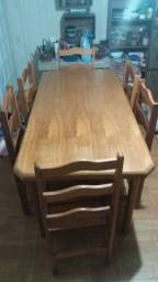 Título do anúncio: Mesa de madeira 6 cadeiras