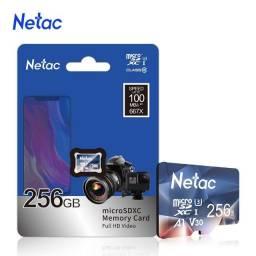 Título do anúncio: Cartão Micro SD Netac 256gb Cartão de Memória