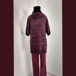 Blusa lã veste legging (G)