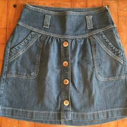 Título do anúncio: Saia jeans azul